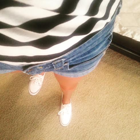 Top:  Forever21 Shorts:  Jcrew Factory Shoes:  Target