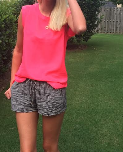Top:  Jcrew factory Shorts:  Oldnavy