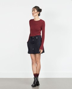This button skirt is from Zara and is only $39.90